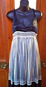 ZARA-SILK-DRESS-SIZE-MEDIUM-10-12-V-NECK-BLACK-GREY-AND-YELLOW-DRESSY