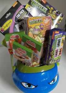 Image Is Loading BIRTHDAY GIFT BASKET NINJA TURTLE CHILDREN 039 S