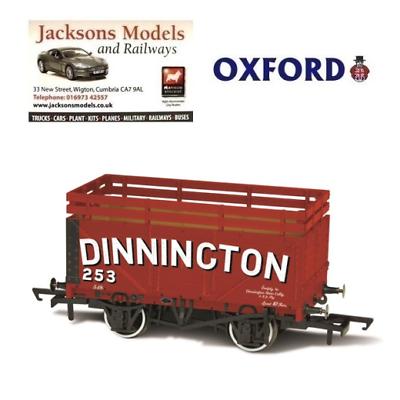 Oxford OR76CK7001 Coke Wagon 7 Plank Dinnington 254 with 2 Coke Rails OO Gauge