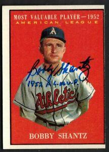 1961 Topps Bobby Shantz MVP Card #473 Autograph Signed Phil A's