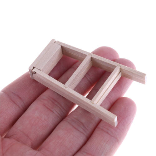 New 1:12 Dollhouse Miniature Furniture Wooden Ladder BSCA