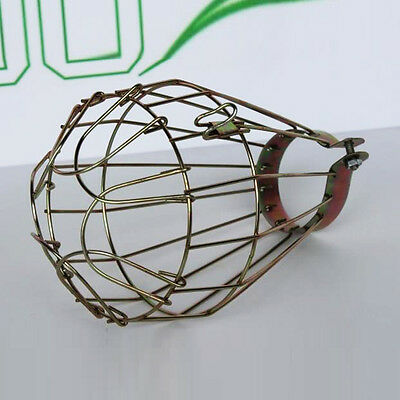 Industrial Metal Bulb Guard, Clamp On Metal Lamp Cage, For Vintage Trouble Light