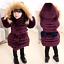 Kids-Girls-Winter-Long-Padded-Coats-Fur-Hooded-Jacket-Puffer-Warm-Parka-Cute-Bow thumbnail 1