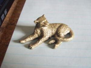 Pewter Leopard  Figurine