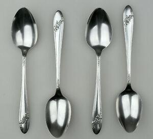 4 Silver Queen Bess II Teaspoons 1946