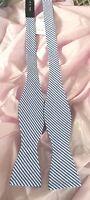 Ox & Bull Trading Bow Tie Blue & White Stripe 100% Cotton Adjustable $28.