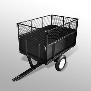Remorque Tondeuse Tracteur de jardin Poids 300 kg Dimensions ...