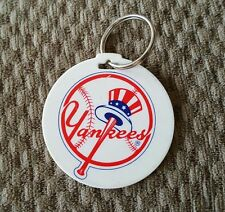 VINTAGE NEW YORK YANKEES PLASTIC LUGGAGE TAG/KEYCHAIN, SGA.