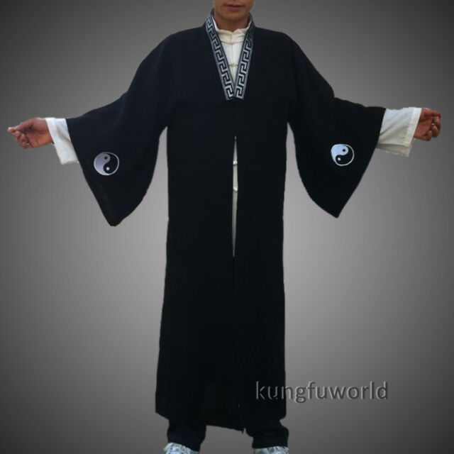 Wudang Taoism Kung fu Robe Suit with Tai Chi Yin Yang Culture Embroidery