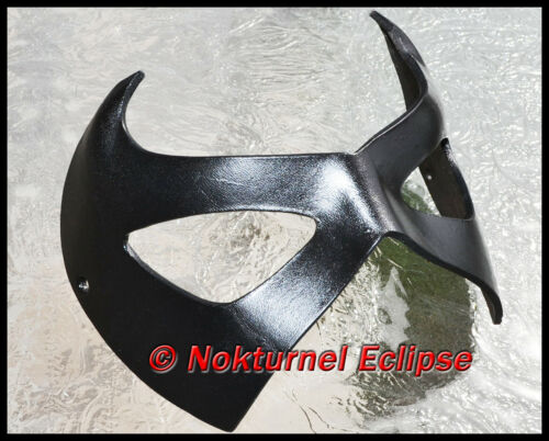 BLACK Robin Superhero Leather Mask Batman Gotham Geek Halloween Costume UNISEX