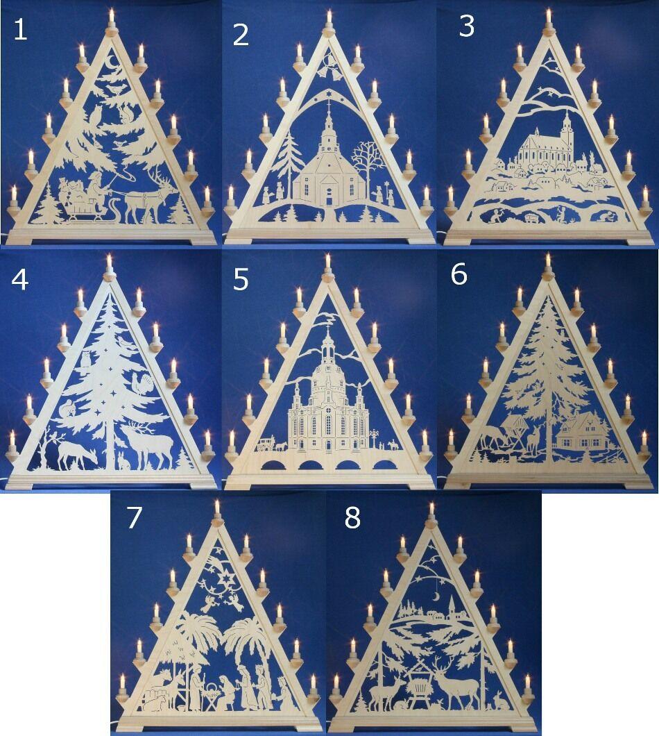 Taulin Schwibbogen luces arco punta ventana triángulo Erzgebirge mujeres iglesia
