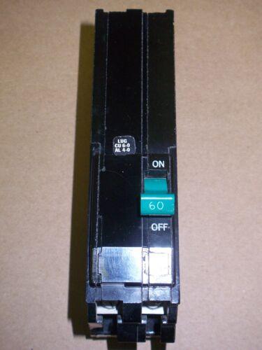 SQUARE D Q1 2 pole 60 amp 240v Q1260 Circuit Breaker Q1 260