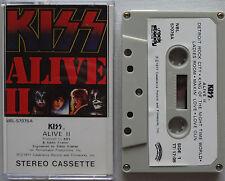 KISS Alive II (2) RARE!! Cassette TAPE Orig HONG KONG Glam Rock GENE SIMMONS '77