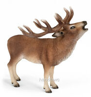 Schleich 14647 Red Deer Buck Wild Animal Model Toy Figurine - Nip
