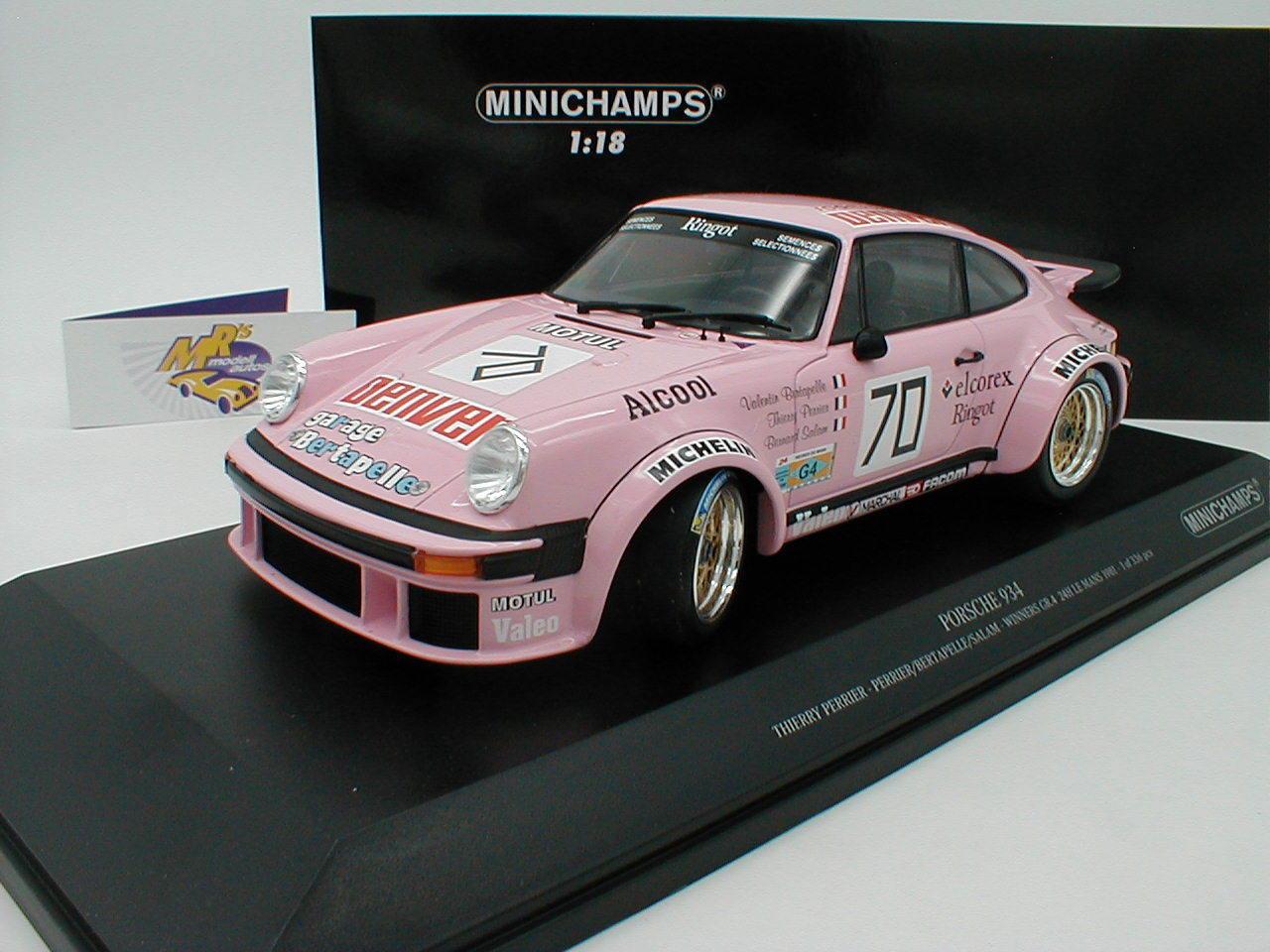 Minichamps 155816470-PORSCHE 934 24h. le Mans 1981  Thierry Perrier  1 18
