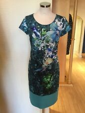 Roberto Naldi Dress Size 16 BNWT Blue Green Turquoise RRP £157 Now £59