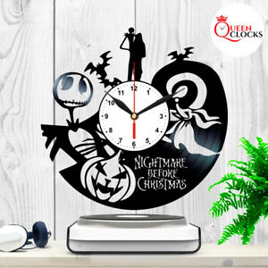 Jack-Skellington-Nightmare-Before-Christmas-Vinyl-Record-Wall-Clock-Gifts-Decor