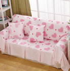 Heart Cotton Linen Slipcovers Sofa Cover Protect OauR 1 2 3 4 seater Pinky Fit