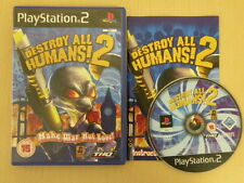 Sony Playstation 2 Game * DESTROY ALL HUMANS! 2 * Complete Retro Rare PS2 S0374