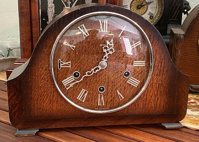 Antique Smiths Mantel Clock, Westminster Chime, circa 1950, Good Working Conditions