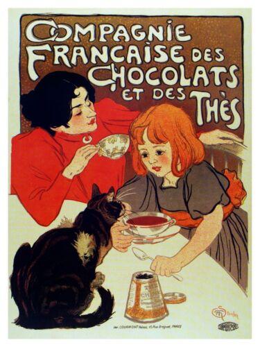 5090.Compagnie francaise des chocolates at des thés.POSTER.decor Home Office art