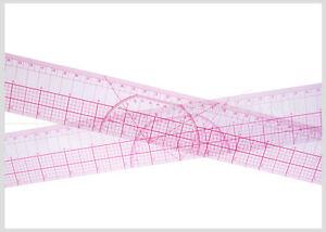 Plastic L Square Patchwork Ruler Inch and Metric Ruler for Tailor Designer