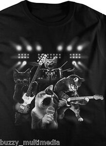 Cat-Rock-Shirt-With-The-Band-T-Shirt-Small-5X