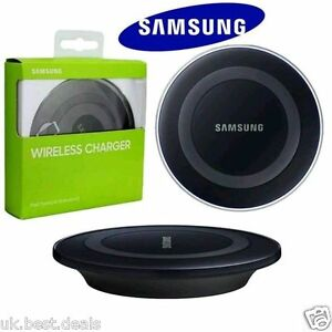 samsung galaxy s7 s7 edge s6 s6 edge qi chargeur sans fil de recharge pad plaque ebay. Black Bedroom Furniture Sets. Home Design Ideas