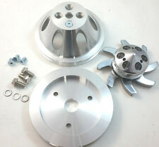 BBC Big Block Chevy 1 Groove Billet Aluminum Short Pump Pulley Kit 396 427 454