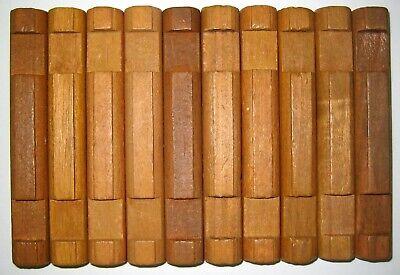 "Wooden Lincoln Logs Parts Lot 10 Medium 2-Notch Log Pieces 4.5/"" Vintage Brown"