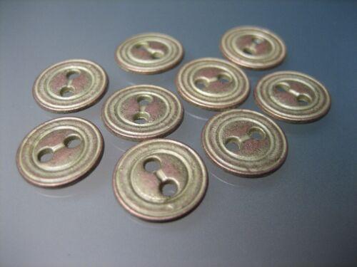 muñecas botones 10x pequeños botones de metal 11mm-blusenknöpfe #32 LARP