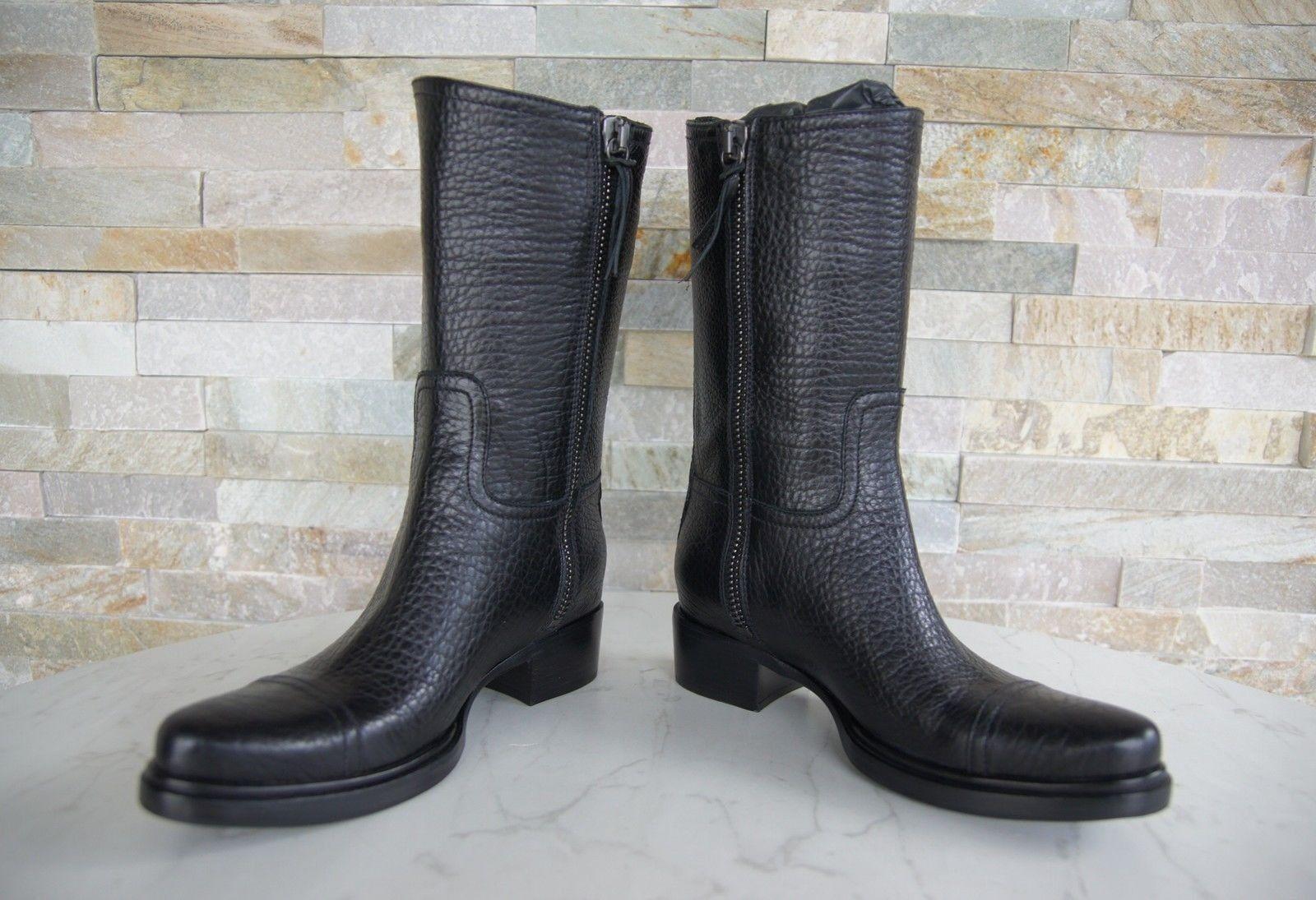 MIU MIU Bisonleder Gr 36,5 Damen Stiefel Stiefel Schuhe Bisonleder MIU 5U8936 schwarz NEU 41a89d