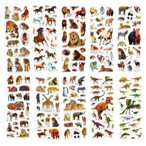 10Pcs-Fun-Stickers-Dinosaurier-Aufkleber-HOT