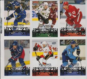2008-09-LOT-OF-6-UPPER-DECK-ROOKIES-YOUNG-GUNS-NO-YG-29