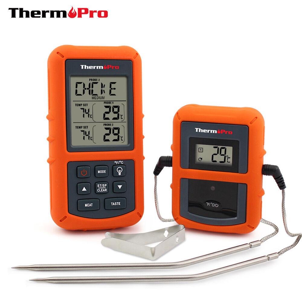 ThermoPro à distance sans fil numérique cuire la Nourriture Thermomètre à viande avec double sonde