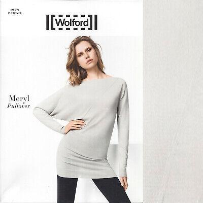 Marchio Popolare Wolford Meryl Pullover-small S - 7481 Lucernario... Vestibilità Espansiva-mostra Il Titolo Originale