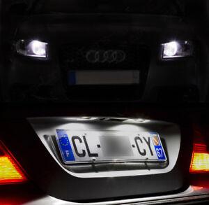 4-ampoules-a-LED-eclairage-blanc-veilleuses-feux-de-plaque-pour-Audi-A4-B6-B7
