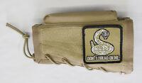Tan Stock Riser Cheek Rest + Dont Tread On Me Patch Fits Mauser 24/47 K98 Rifles