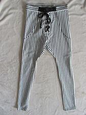 One Teaspoon Babylon Jagger Pants-Drop Crotch-Black/Off-White- Size 2 (XS) -NWT