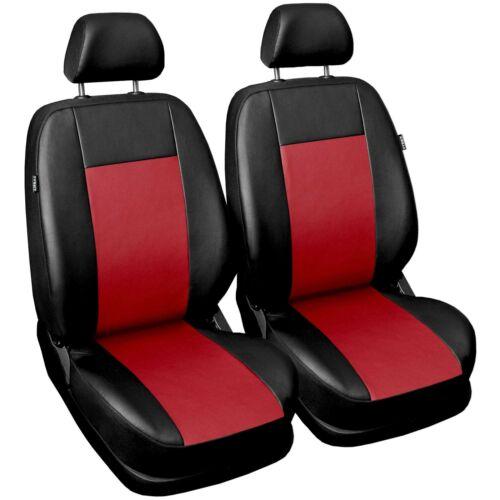 Autositzbezüge für Fiat Panda Universal 1+1 Vorne Rot Sitzbezüge Autositz PKW