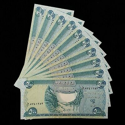 500 NOTE UNCIRCULATED! IQD! 10 AUTHENTIC 5,000 IRAQI DINAR