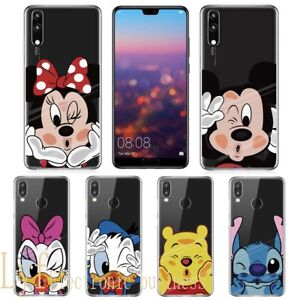 design senza tempo 0b0d0 0cc44 Details about Cartoon Silicone Phone Case Clear Cover for Huawei P20 P30  Pro Lite P Smart 2019