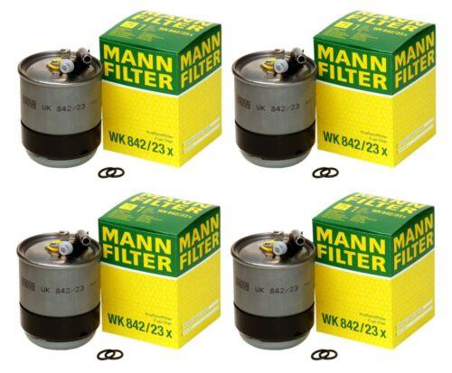 Set of 4 Fuel Filters WK84223X Mann For MB W211 S211 W164 X164 W251 Dodge Turbo