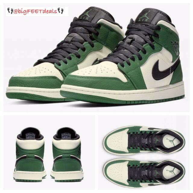 on sale 5d1ba 0f31a RARE SIZE 18 Nike Air Jordan Retro One 1 MID SE Green Black 2 3 4 5 6 7 8 9  11