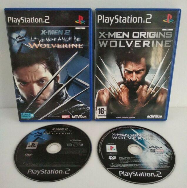 X-MEN: WOLVERINE 2 & Origins - 2 Jeux PS2 Pal Français -Complet -Très bon état