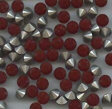 1028 SS34 RC *** 12 Strass Swarovski  fond conique 7,2mm   DARK RED CORAL F