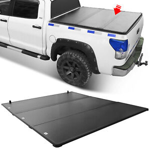 Fits 2007-2020 TOYOTA TUNDRA Lock Tri-Fold Hard Solid Tonneau Cover 6.5ft Bed