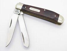 LL BEAN BUCK 382 MEDIUM TRAPPER DOUBLE 2 BLADE FOLDING POCKET KNIFE WOOD HANDLE