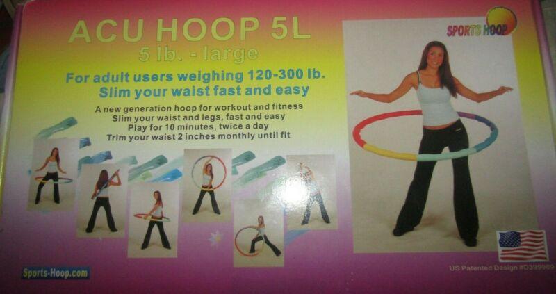 Sports Hoop Exercise & Fitness Weight Loss Series Acu Hoop 5-L LARGE HULA HOOP