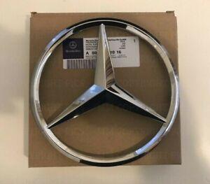 Mercedes-Chrome-Front-Grille-Star-Badge-A-C-GLA-CLA-ML-CLS-E-Class-OEM-Clip